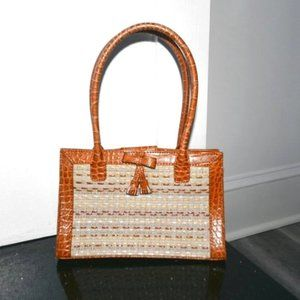 LIZ CLAIBORNE Woven Small Carrying Tote Bag